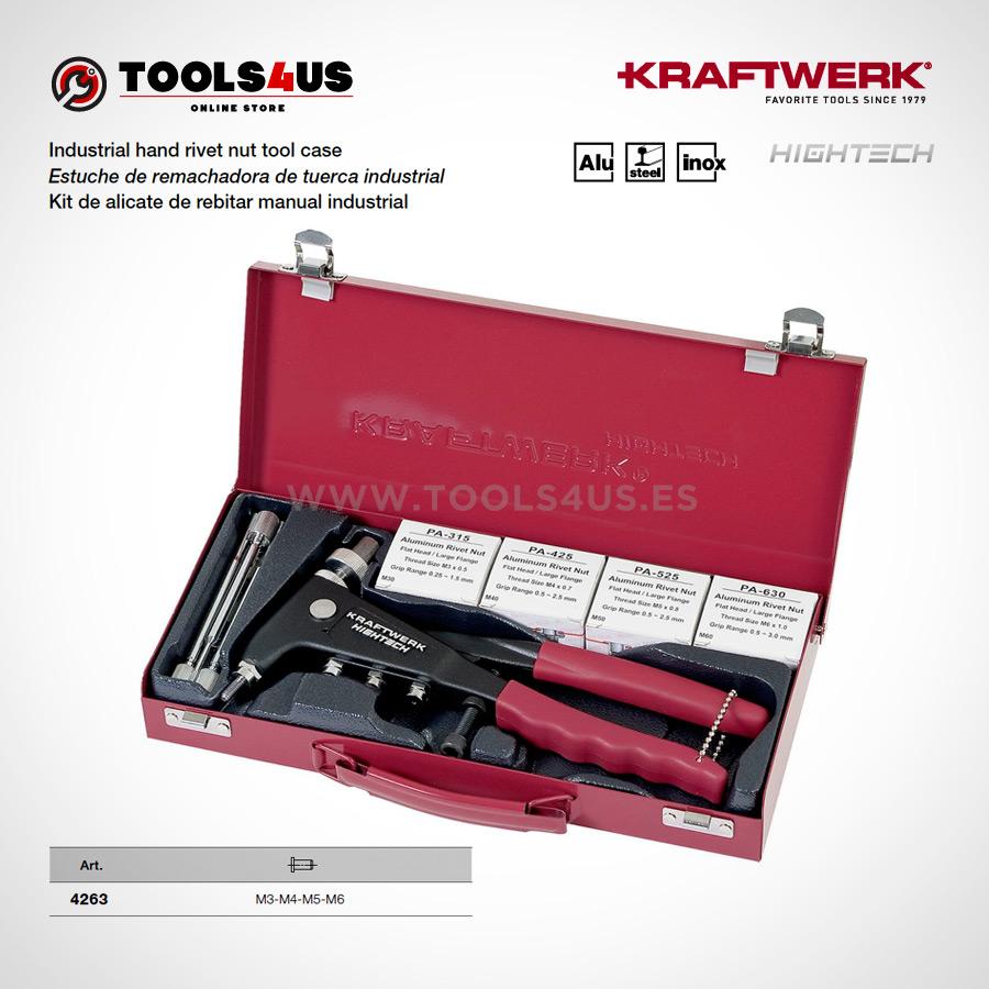4263 KRAFTWERK herramientas taller barcelona espana Estuche remachadora tuerca industrial 01 - Estuche de remachadora de tuerca industrial