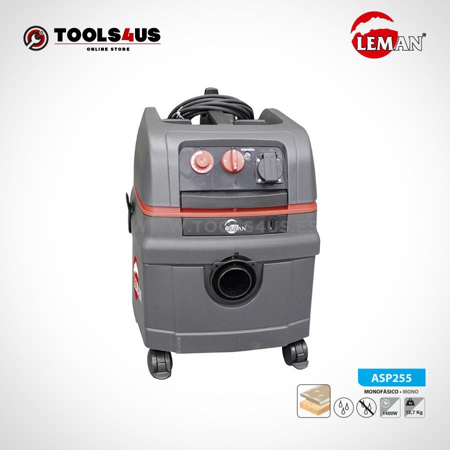 ASP255 Aspirador de Polvo y Agua 25L 1400W PRO Leman 01 - Aspirador de Polvo y Agua 25L 1400W PRO Leman ASP255