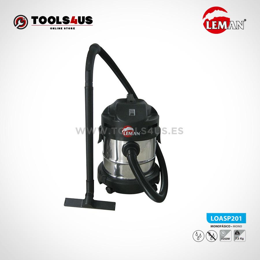 LOASP201 Aspirador de Polvo y Agua 20L1250W Leman 01 - Aspirador de Polvo y Agua 20L 1250W Leman LOASP201