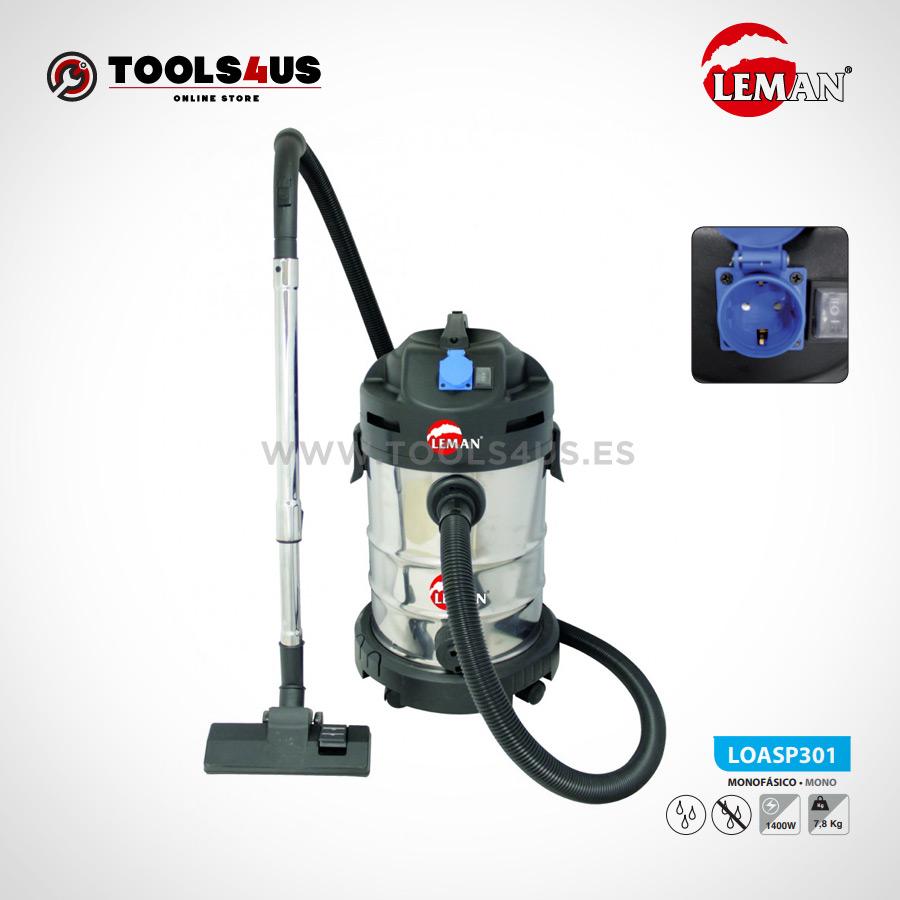 LOASP301 Aspirador de Polvo y Agua 30L 1400W Leman 02 - Aspirador de Polvo y Agua 30L 1400W Leman LOASP301