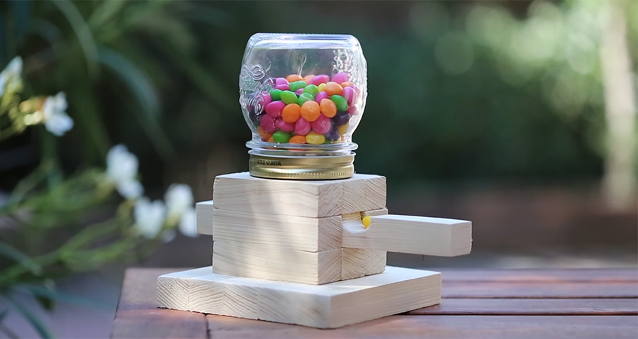 Make a candy dispenser