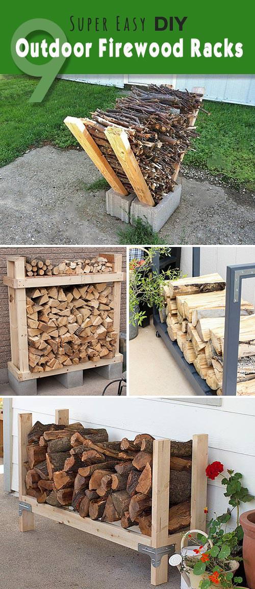 A Firewood Rack with Space for Kindling