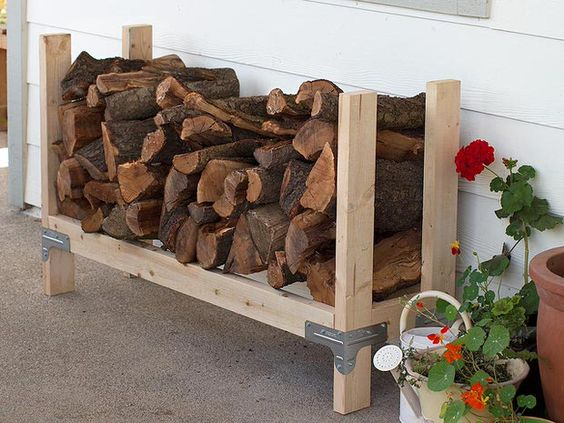 Outdoor Firewood Rack for Small Space