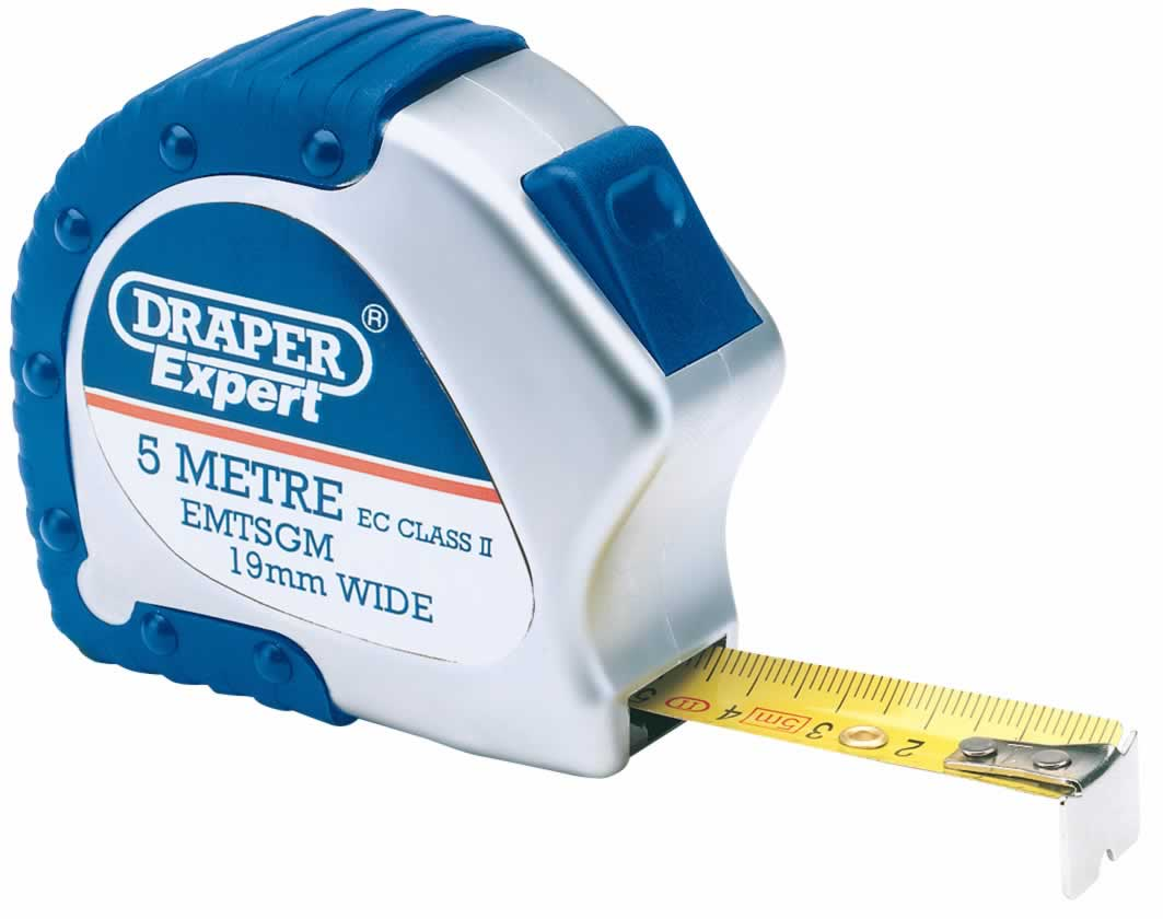 Expert 5m X 19mm Soft Grip Metric Measuring Tape