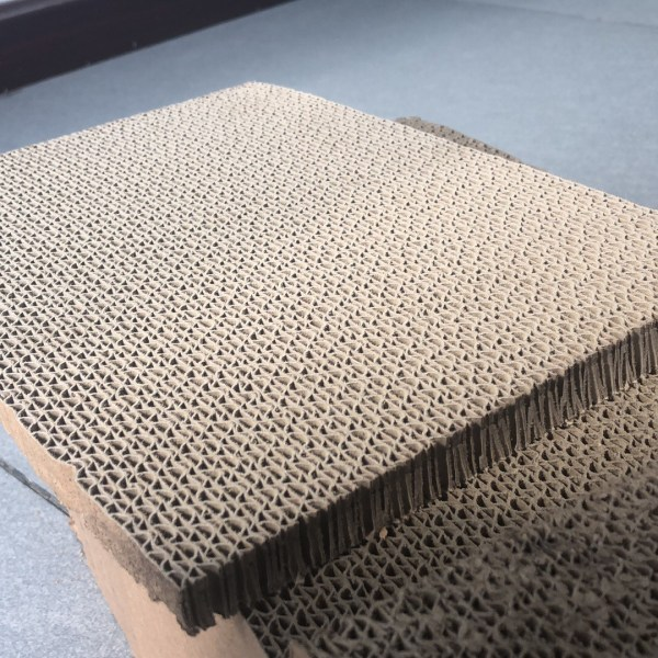 Honeycomb paperboard cutting