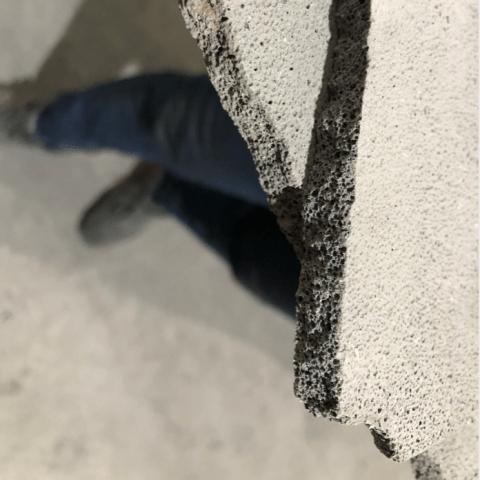 foam cement cutting 4
