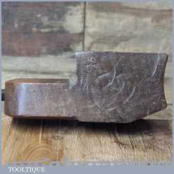 """Antique Griffiths Of Norwich 15/16"""" Rounding Beechwood Moulding Plane"""