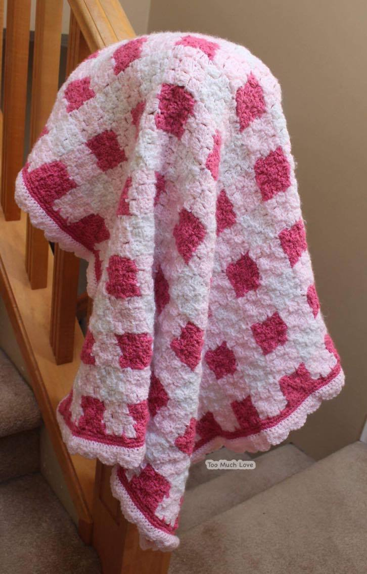 How To Make A Gingham Baby Blanket Using C2c Crochet Too