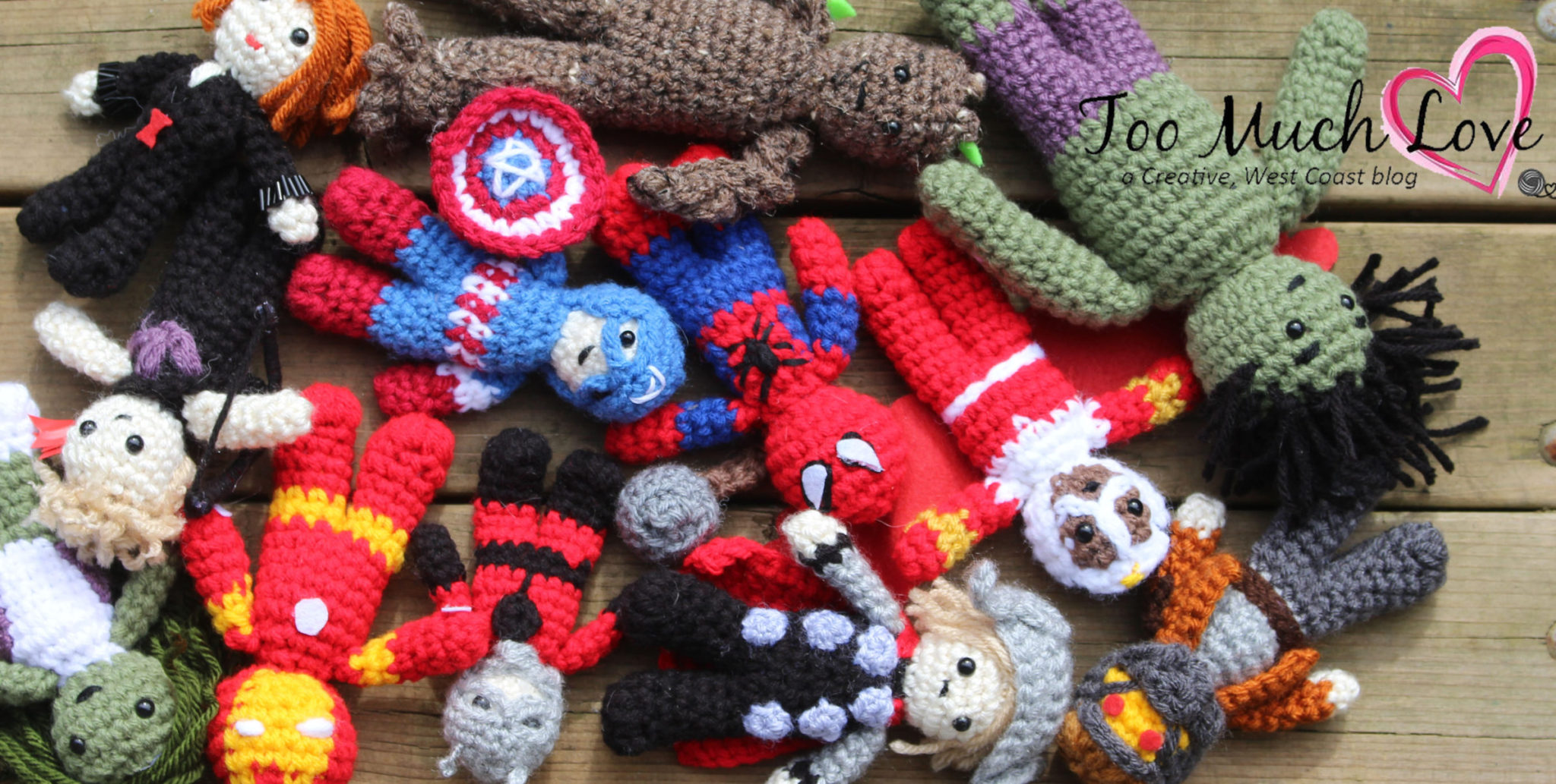 Crocheted Avengers Finger Puppet Patterns - Club Crochet | 1033x2048