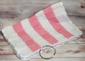 How To Crochet A Basket Weave Baby Blanket Free Pattern Too Much