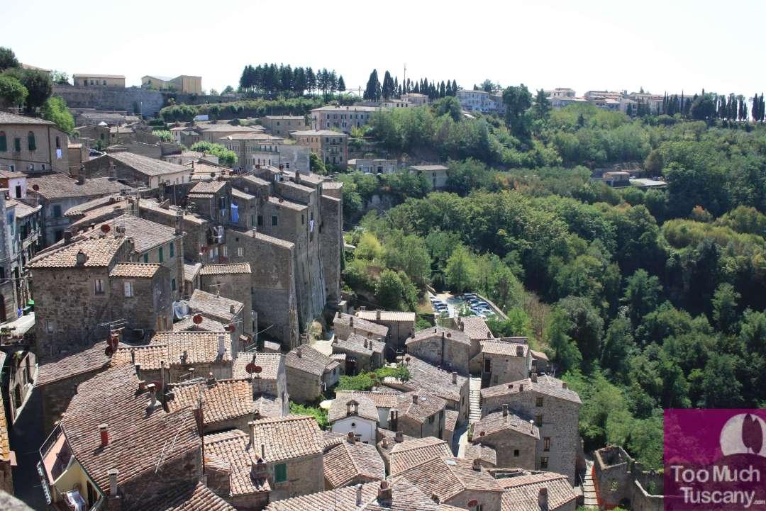 Sorano - view from Masso Leonino