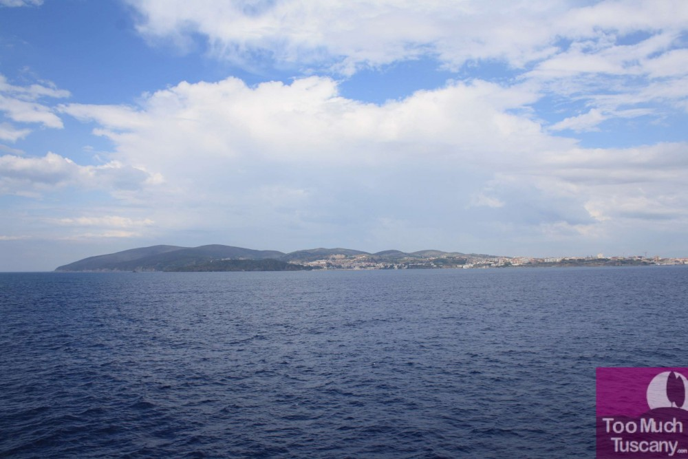 Piombino from the ferry