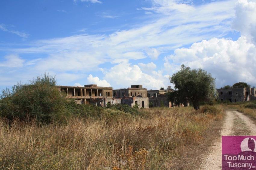 Abandoned military base at Varano lake