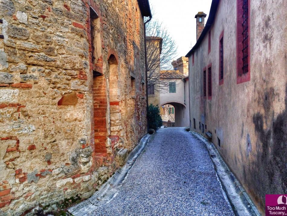 Street in Lucignano d'Asso