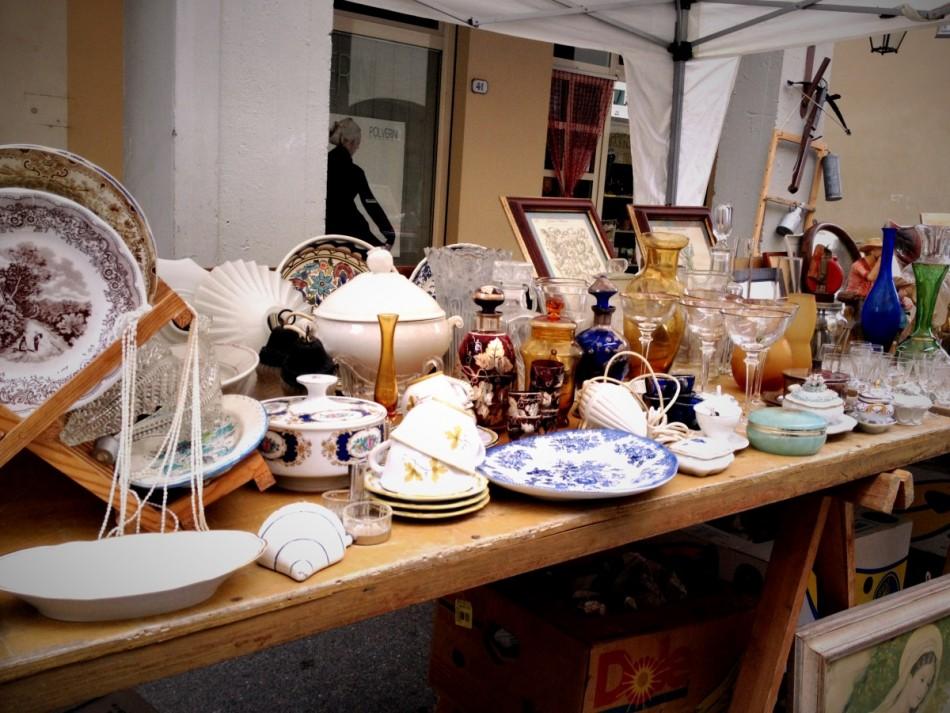 Antiques market in Dicomano