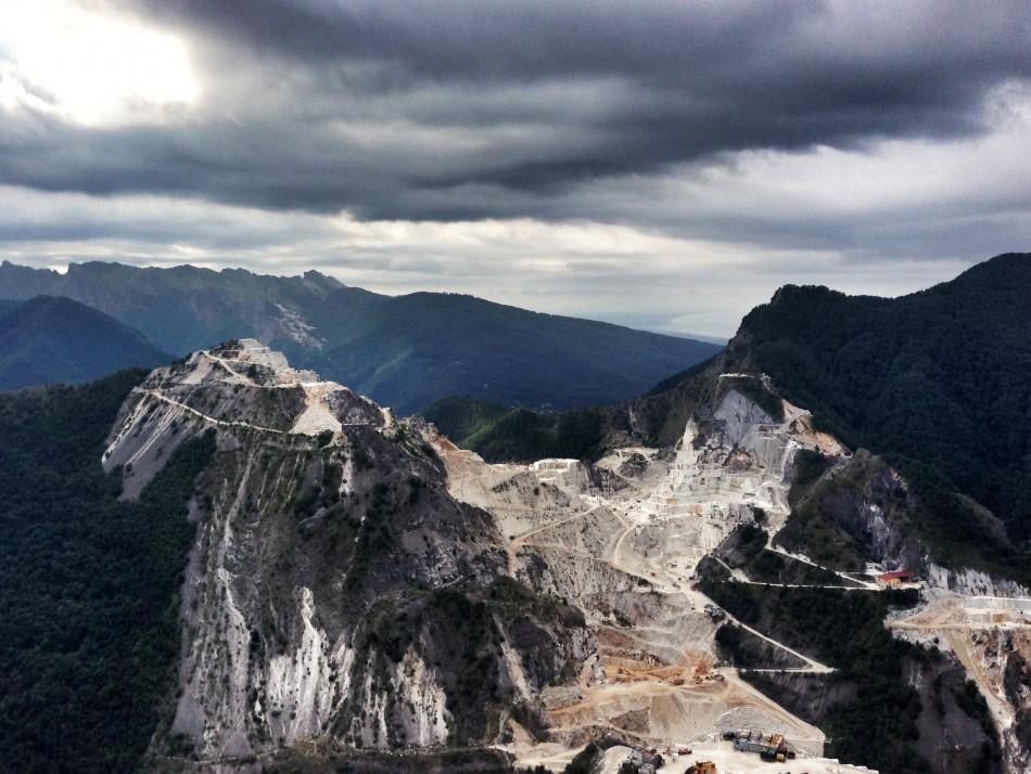 Marble quarries landscape