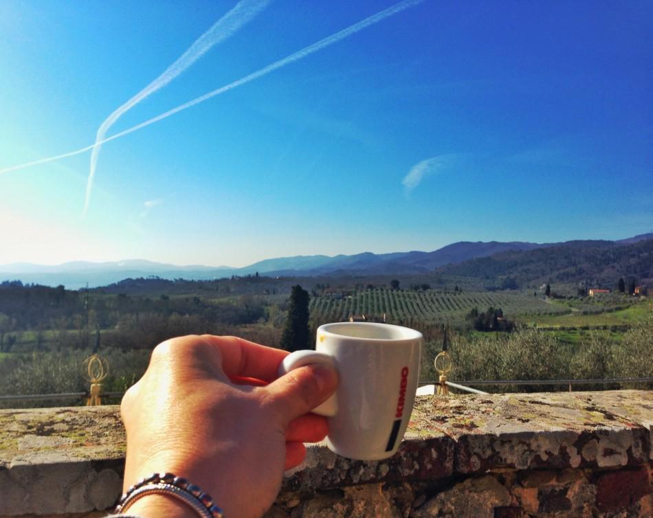 Coffee with view at Villa La Palagina