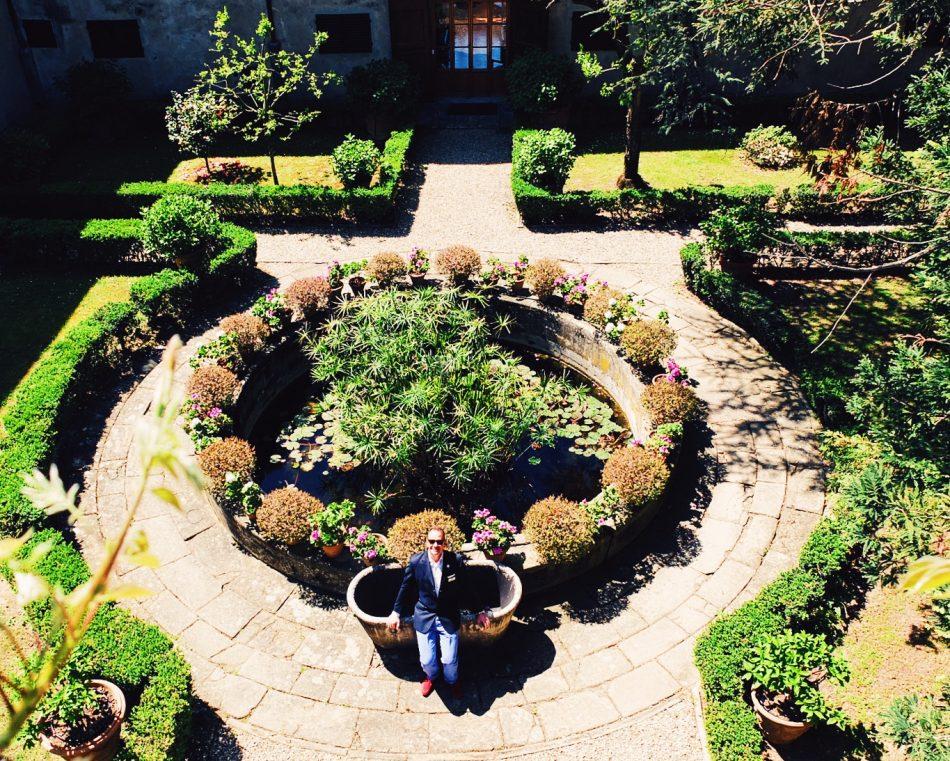 Eric at Villa Medicea di Lilliano