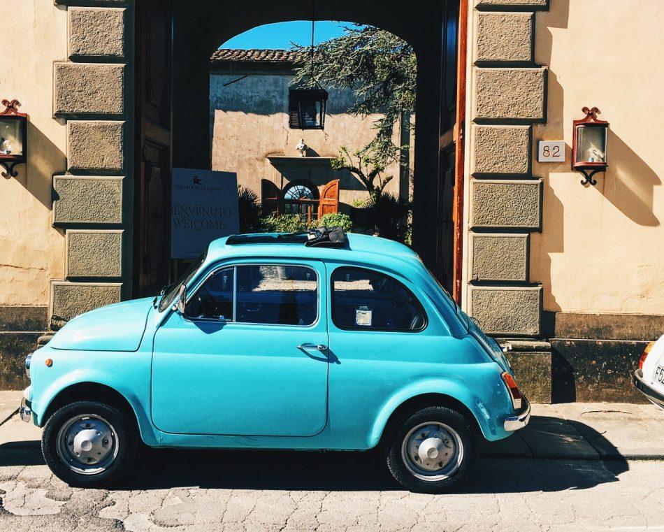 500 Fiat Car at Villa di Lilliano
