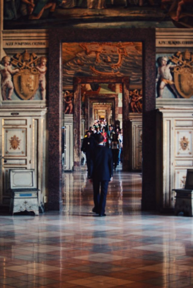 The endless corridors of the Vatican Museums