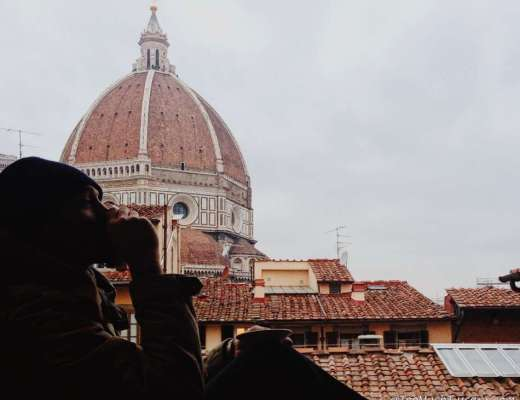 Coffee with view over Florence Cupola