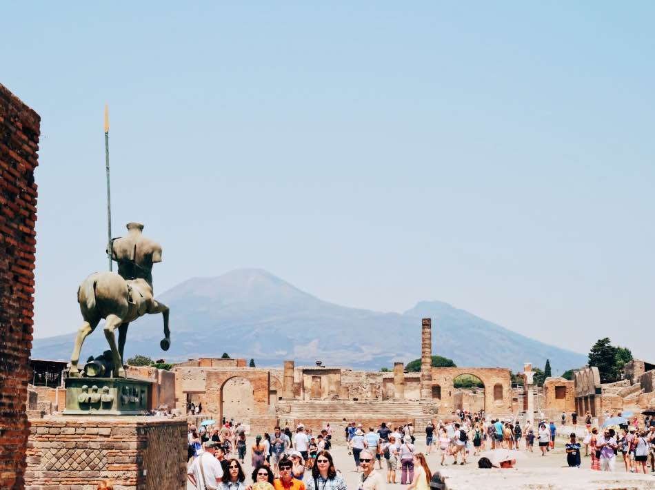 Mount Vesuvio from Pompei