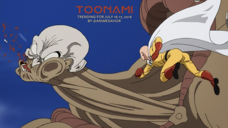 Toonami Trending Rundown for July 16th-17th