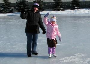 The ice skating princesses