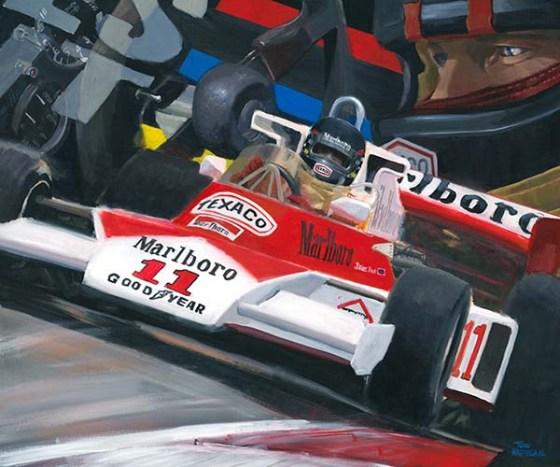 James Hunt in de McLaren M23 (1976)