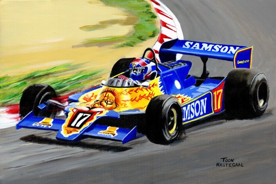 Jan Lammers in de Shadow van 1979, acryl op canvas, 60x90cm.