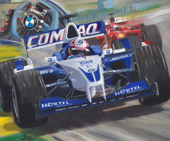Montoya in de Williams BMW FW23 in 2001