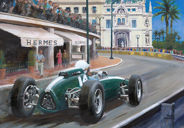 Bruce McLaren wint de GP van Monaco 1962