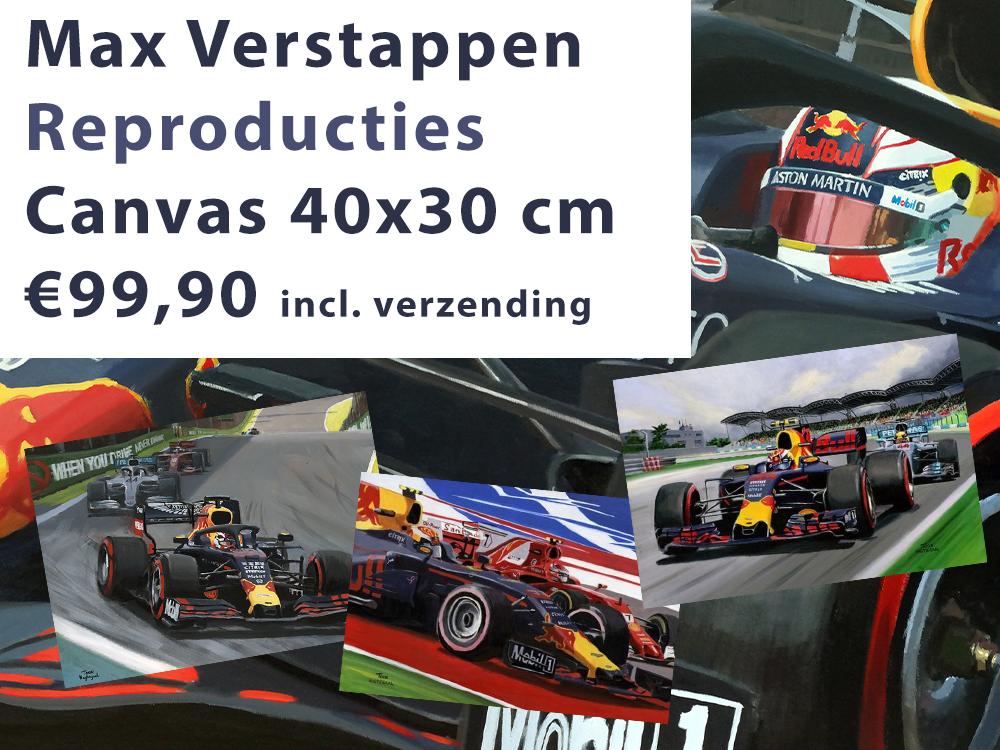Max Verstappen canvas