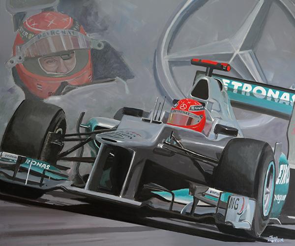 Michael Schumacher Mercedes F1 W03 2012
