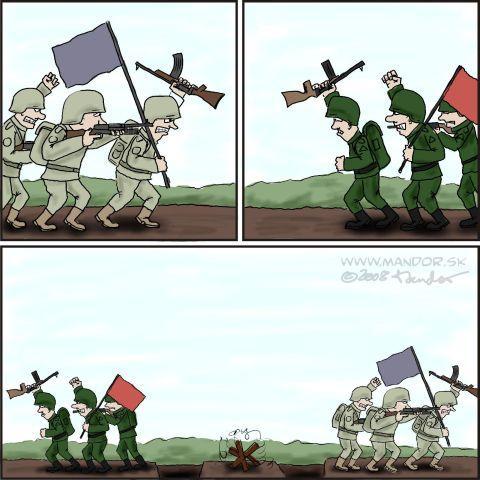 War By Mandor   Politics Cartoon   TOONPOOL