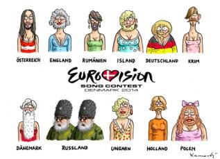 Afbeeldingsresultaat voor eurovision cartoon