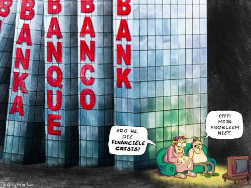 Cartoon: Financial Domino (large) by Vanmol tagged bank,money,crisis