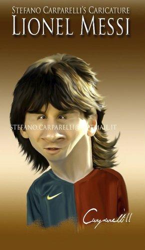 Cartoon: Messi (medium) by carparelli tagged caricature