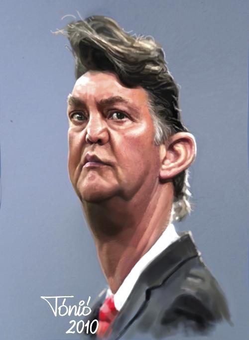 Cartoon: Louis van Gaal (large) by Tonio tagged trainer,coach,bayern,münchen,holland,dutch,ajax,amsterdam
