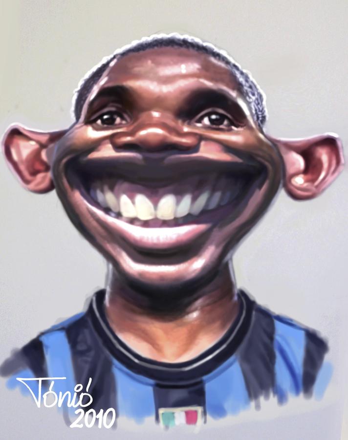 Cartoon: Samuel Etoo FC Internacionale (large) by Tonio tagged football