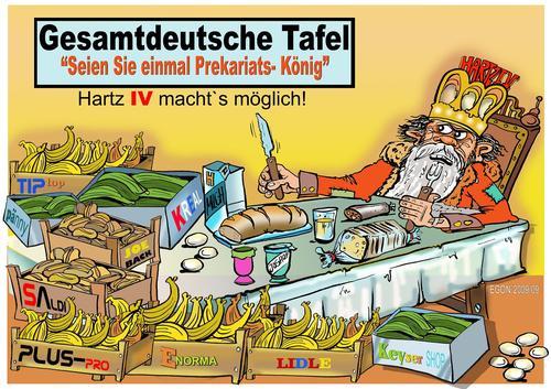 Cartoon: Die Tafeln werden immer mehr! (medium) by Cartoonist EGON tagged tafel,armut,hartz,iv,sgb,ii
