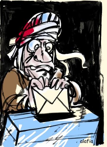 Politischer Cartoon, Wahlen nach dem Arabischen Frühling