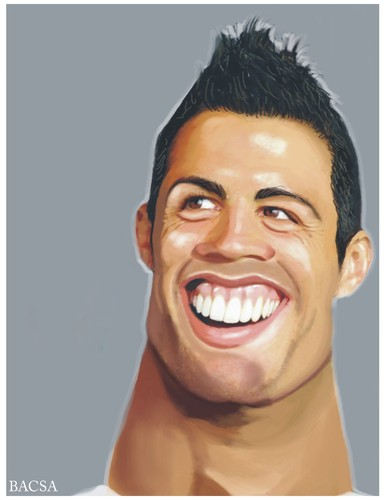 Cartoon: Cristiano Ronaldo (medium) by bacsa tagged ronaldo