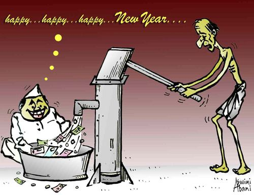 HAPPY NEW YEAR  2012 By Aswini Abani   Politics Cartoon   TOONPOOL Cartoon  HAPPY NEW YEAR  2012  medium  by Aswini Abani tagged aswini
