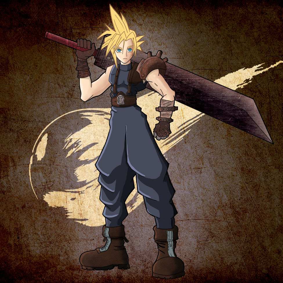 How To Draw Cloud Strife