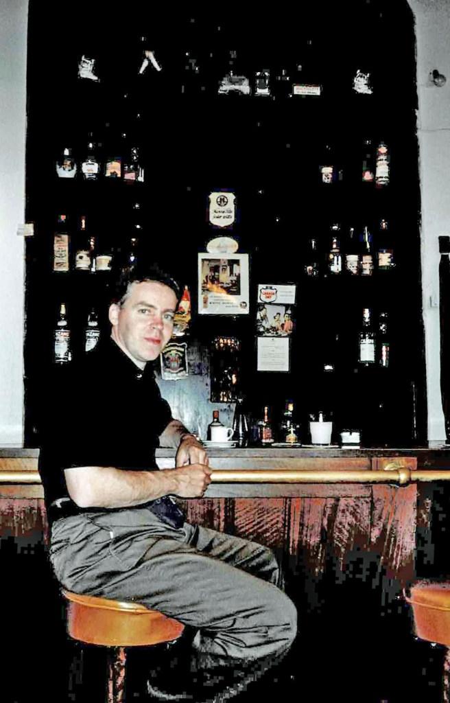 Man sitting in a bar