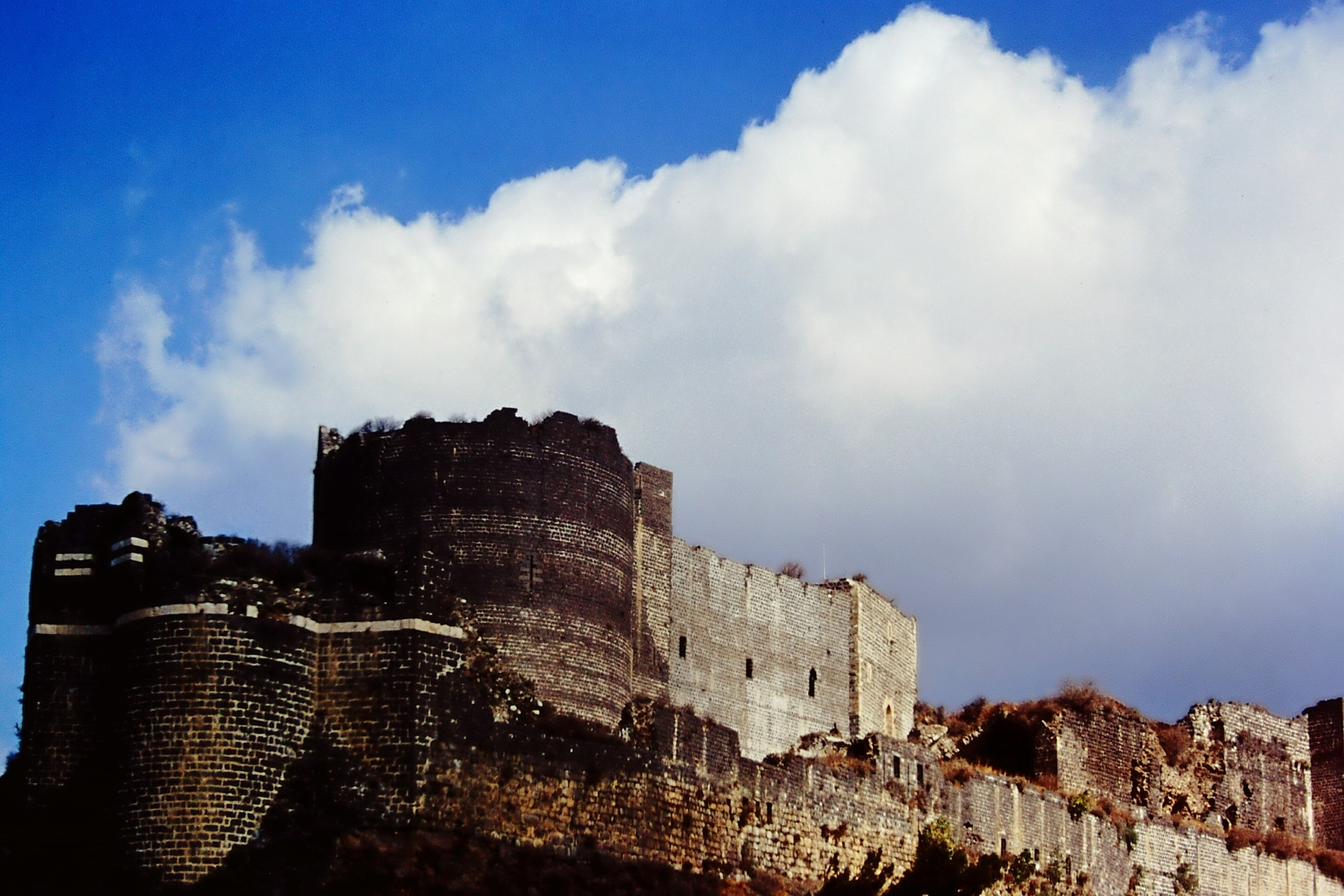 Castle ruins and blue sky