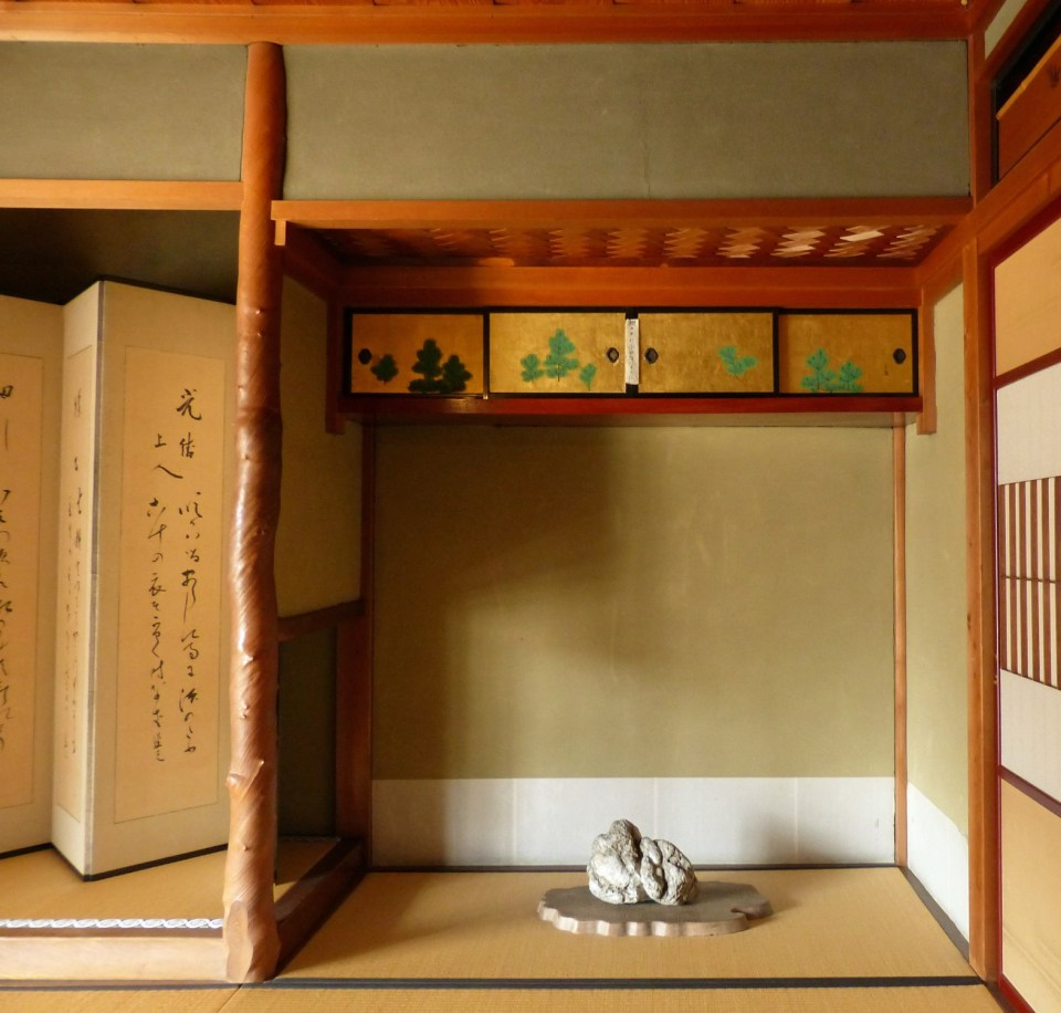 Alcove with Japanese painting and ornament
