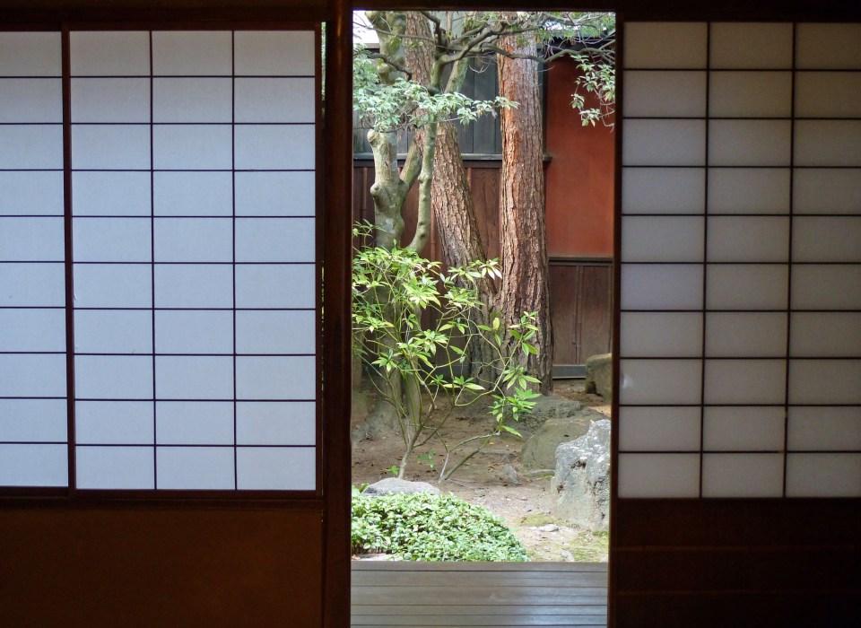 Japanese screen and garden