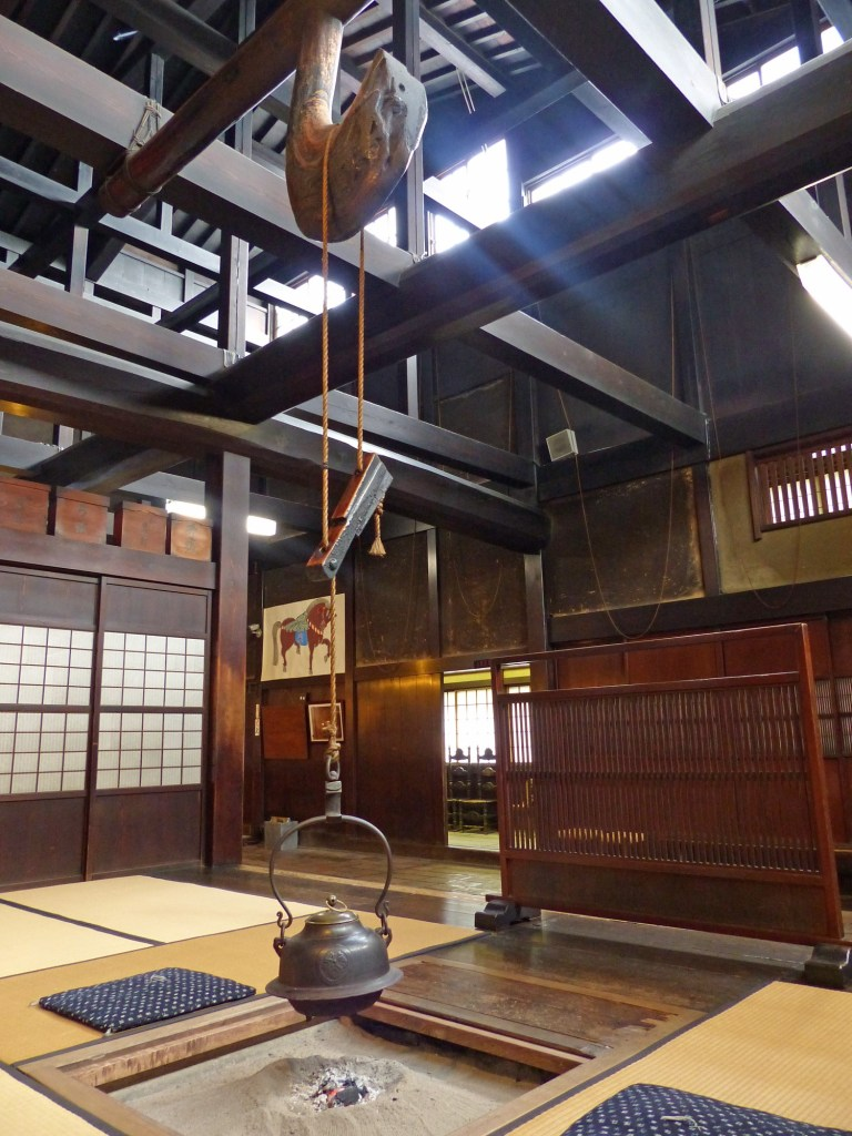 Japanese room with fireplace